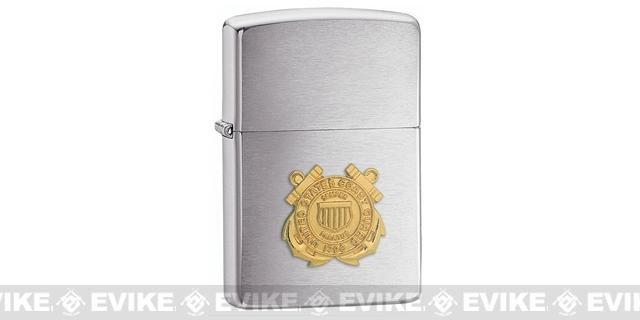 Zippo Classic Lighter - United States Coast Guard (Brushed Chrome)