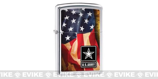Zippo Classic Lighter Patriotic Series (Model: US Army / Chrome)