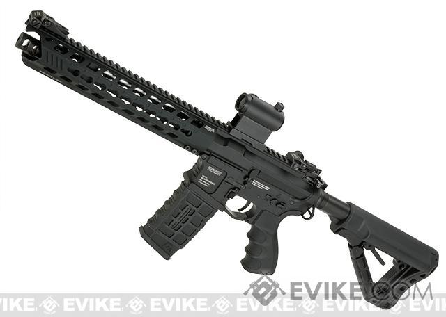 G&G GC16 Predator Full Metal Airsoft AEG Rifle with Keymod Rail (Package: Black / Add 9.6 Butterfly Battery + Smart Charger)