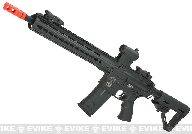 (10 MAGAZINE BUNDLE DEAL) ICS CXP Pro Line Transform-4 265 Keymod Electric Blowback Airsoft AEG Rifle - Rear Wired