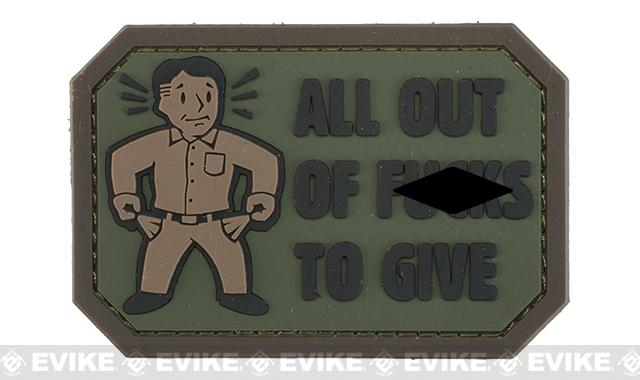 Mil-Spec Monkey All Out of F's PVC Morale Patch (Color: Forest)