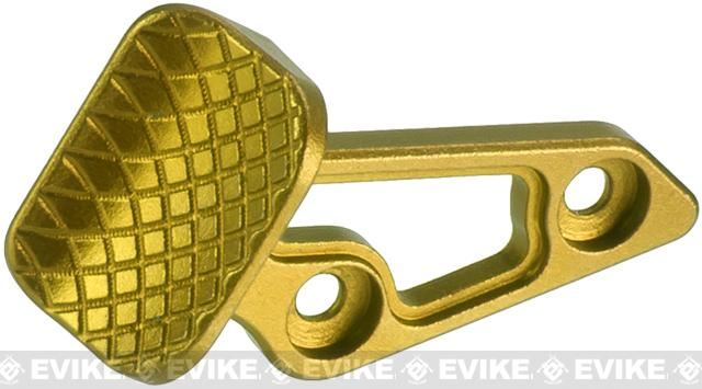 5KU Skidproof Thumb Rest for Tokyo Marui Hi-Capa Gas Powered Airsoft Pistols - Gold (Right Hand Version)