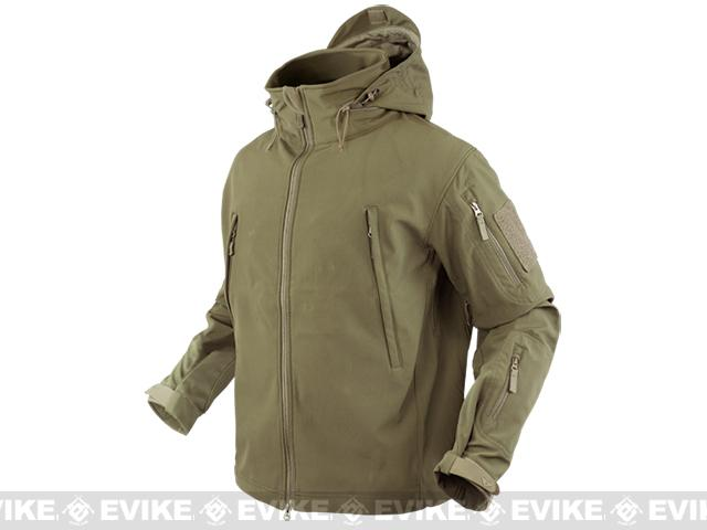 Condor Summit Tactical Softshell Jacket - Tan (Size: Small)