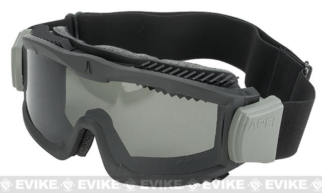 z Arena Industries Flakjak Tactical Goggles - Black (Grey Lens)