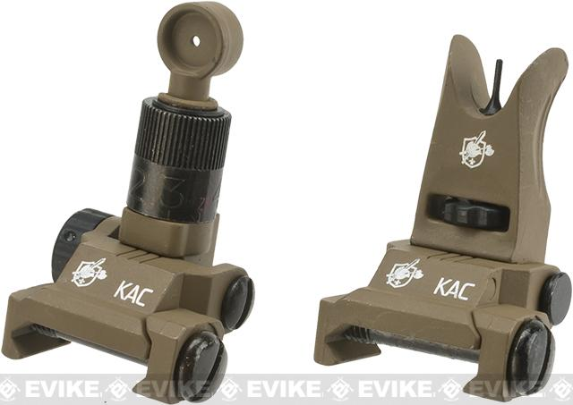 Knights Armament KAA Micro Back-up Iron Sights (Color: Tan)