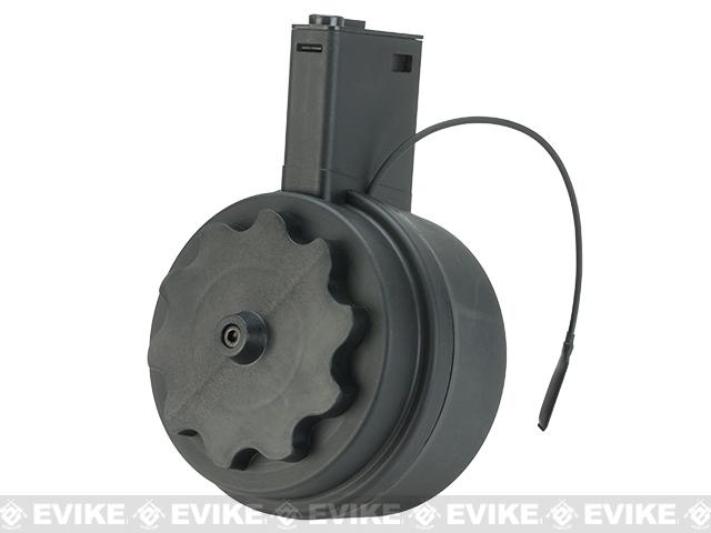 G&P Attack Type Electric Winding 1500 Round M4 Drum Magazine (Color: Black)