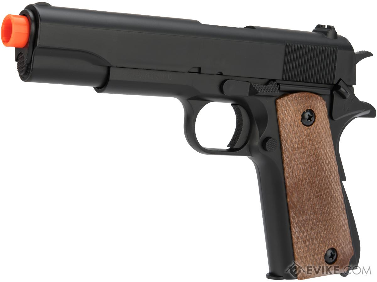6mmProShop Tactical 1911 Full Metal Full Size High Power Airsoft Spring Pistol