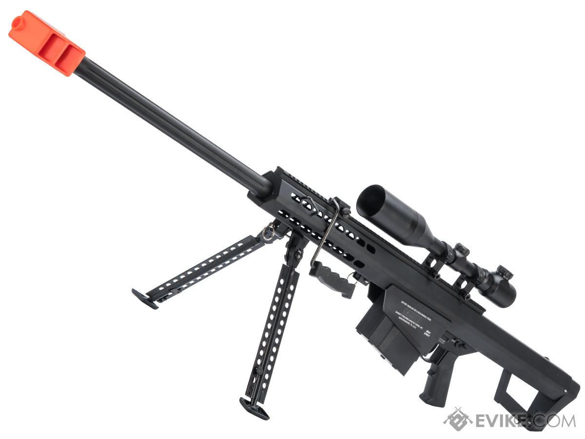6mmProShop Barrett Licensed M82A1 Spring Powered Airsoft Sniper Rifle (Color: Black)