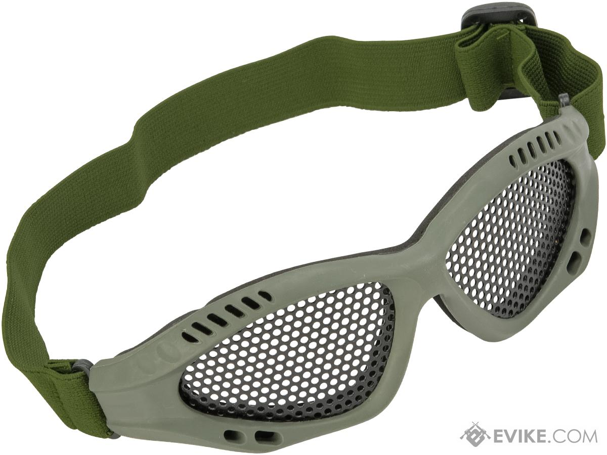 6mmProShop Zero Wire Mesh Adjustable Shooting Range Goggles (Color: Green)
