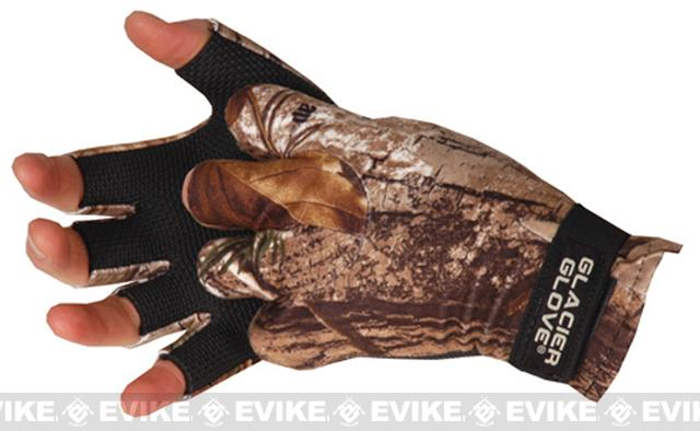 z Glacier Gloves 707RT Midweight Pro-Hunter Fingerless Gloves - Realtree (Size: Large)