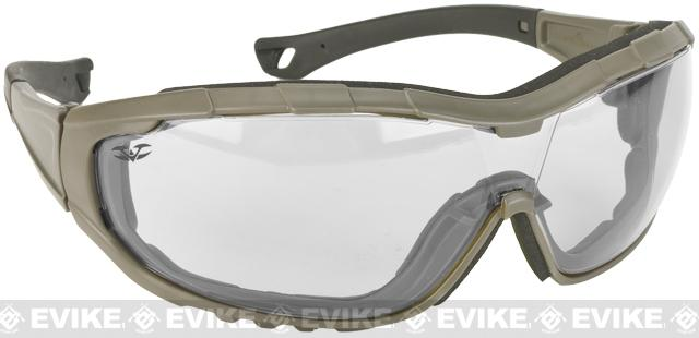 Axis Tactical Goggles by Valken - Green Frame / Clear Lens