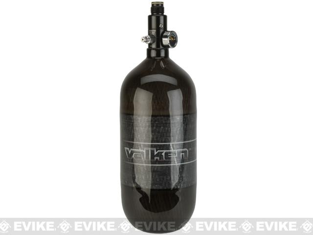Valken Air 90/4500 HPA System Tank with Blackout Regulator - Carbon Fiber