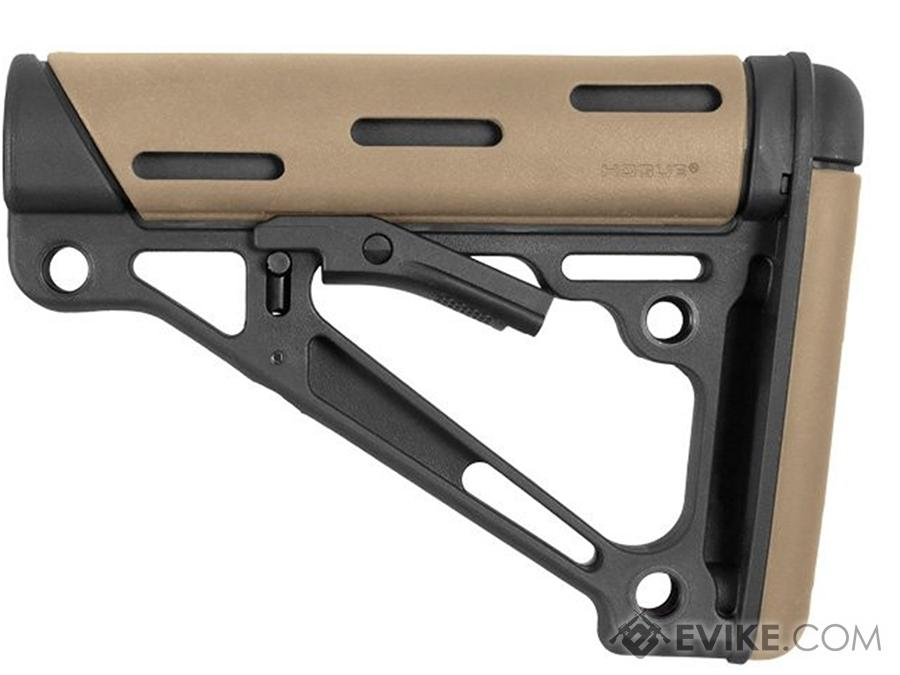 Hogue AR-15/M-16 OverMolded Collapsible Buttstock for Mil-Spec Buffer Tube (Color: Flat Dark Earth)