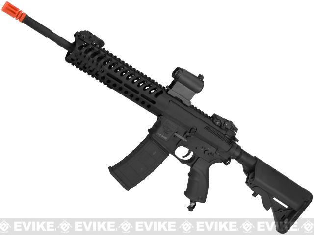 z V12 Tactical M4 Optima BLOCK-II DST Electro-Pneumatic Airsoft Rifle by Valken - Black