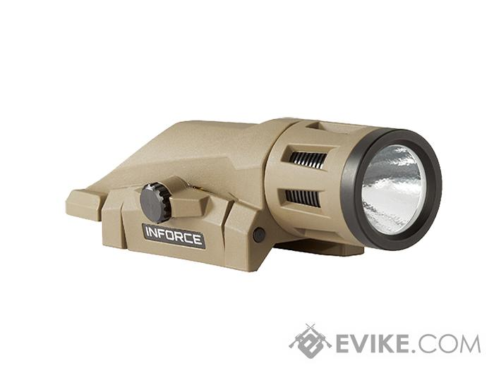 InForce WML Weapon Mounted Multifunction White LED Tactical Light (Color: Flat Dark Earth / 400 Lumen)