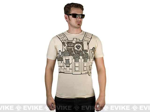 7.62 Design T-Shirt Special Edition Evike.com Bullet Bouncer - Sand (Size: Extra Large)
