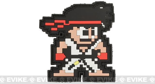 Aprilla Design PVC IFF Hook & Loop Patch - 8-Bit Ryu