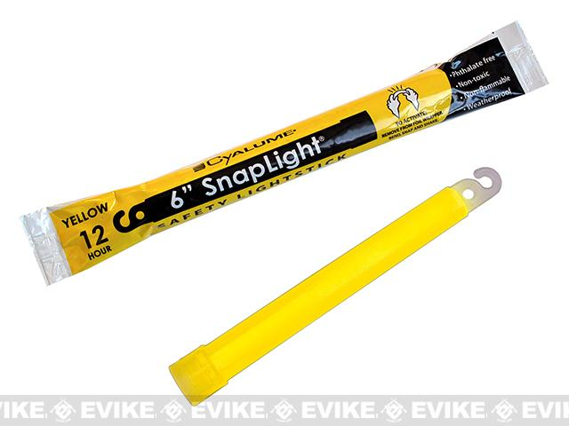 Cyalume 6 ChemLight LightSticks (Color: Yellow / 1 Pack)