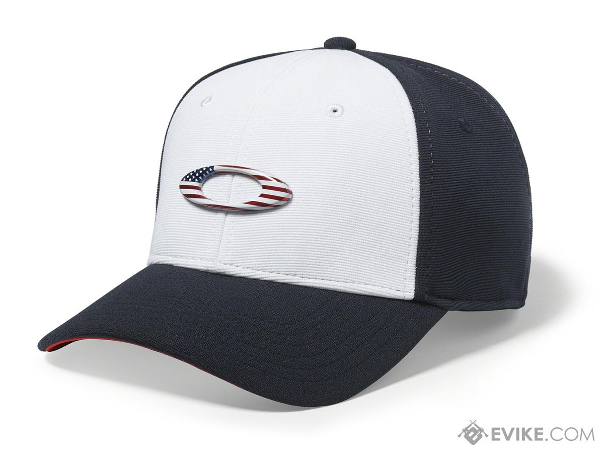 28f17835948 Oakley Tincan Cap (Color  White and Navy   Large - X-Large ...