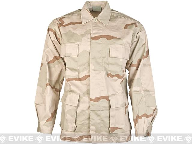 Rothco 55/45 Cotton Poly Ripstop BDU Jacket - 3 Color Desert (Size: Large)