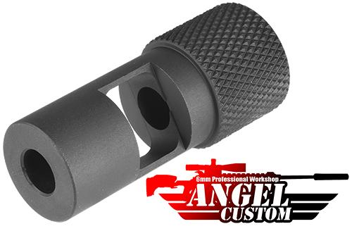 Angel Custom 14mm- CNC SPR Flashhider for Airsoft Sniper Rifles & AEG (14mm-)