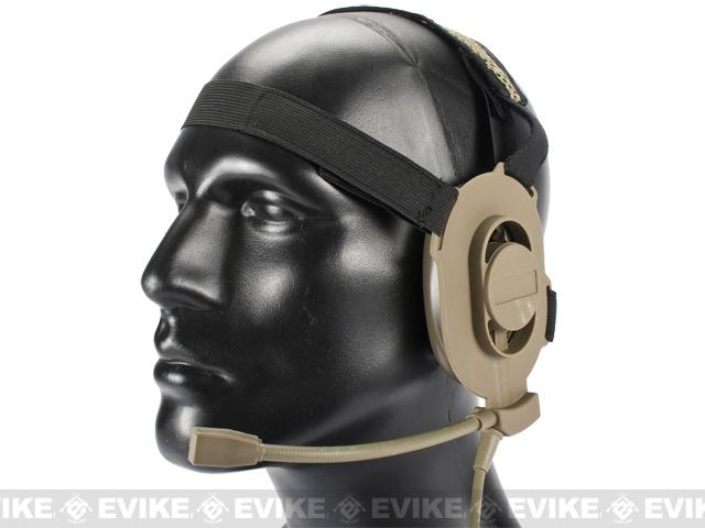 Matrix / Element Military Style Tactical Communications Headset Type-A (Color: Desert Tan)