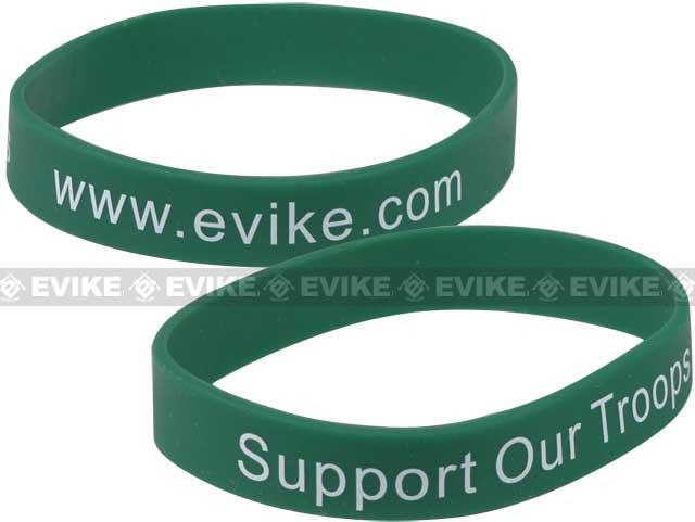 Official Licensed Evike.com Support Our Troops Custom Silicone Bracelet / Fishing Spool Line Holder