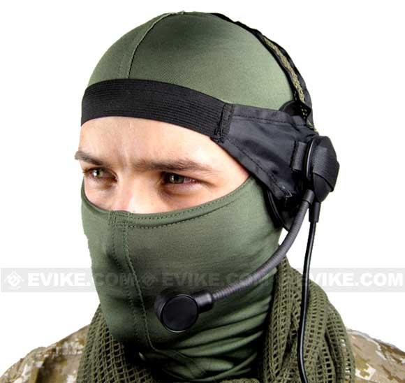 Matrix / Element Military Style Tactical Communications Headset Type D (Color: Black)