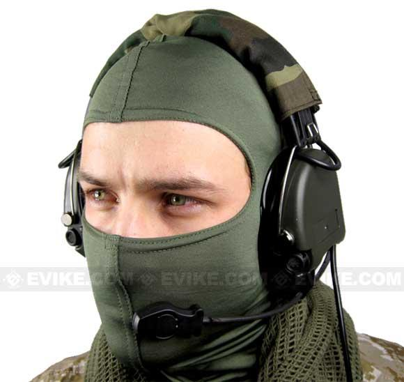 Matrix Type-E Tactical Communications Headset w/ Noise Cancelling System (Color: OD Green)