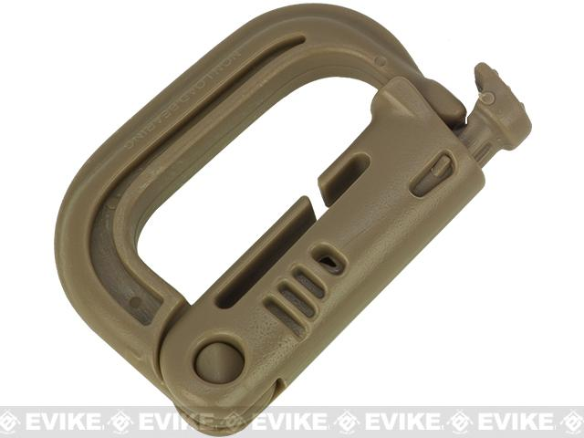 D-Ring Grimloc for MOLLE / Webbing Vest, Belt and Harness by Matrix / Condor - Tan