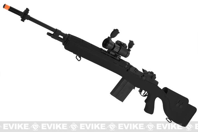 G&P M14 DMR Custom Airsoft AEG Sniper Rifle w/ Red Dot Scope (Package: Black / Gun Only)