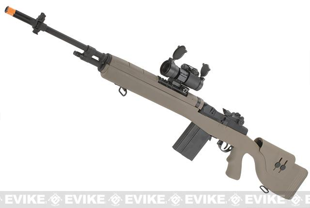 G&P M14 DMR Custom Airsoft AEG Sniper Rifle w/ Red Dot Scope (Package: Desert / Add Battery + Charger)