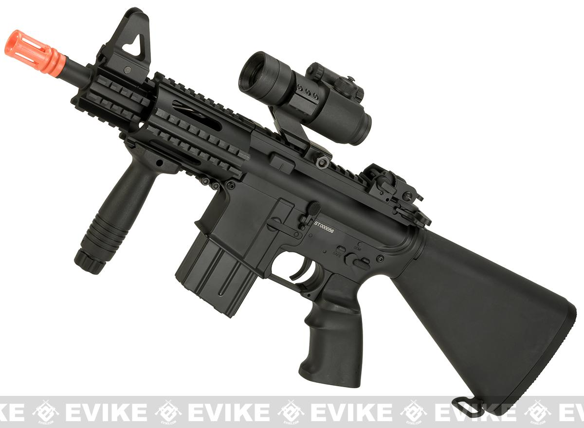 A&K NS15 Full Metal Lipo Ready M4 CQB Stubby Killer Airsoft AEG Rifle (Model: Alpha)