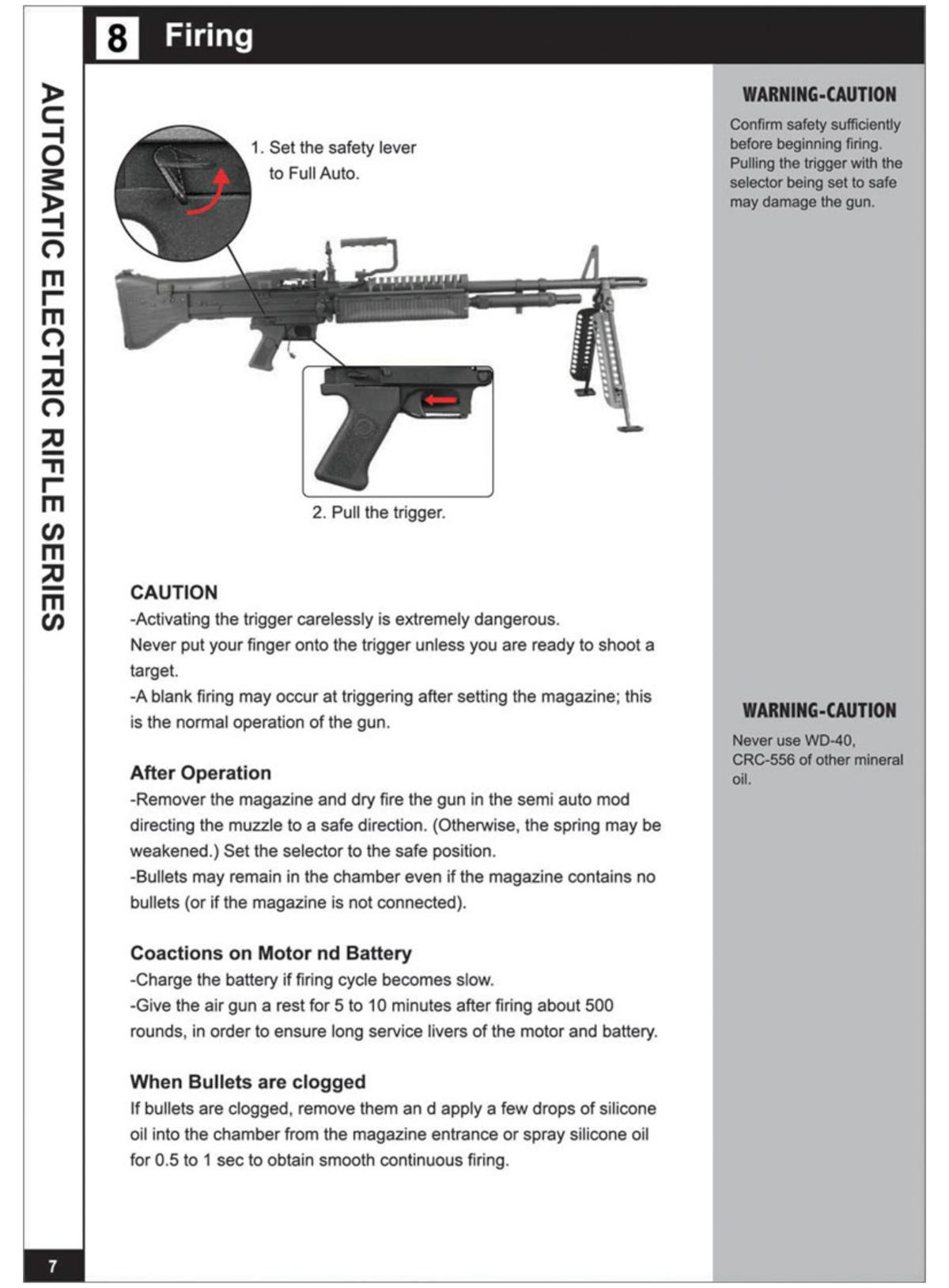 FREE DOWNLOAD - Manual for A&K M60 VN Airsoft AEG Instruction / User Manual