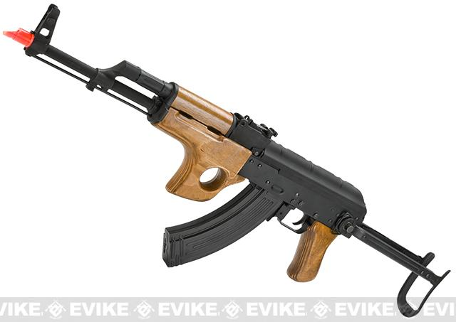 CYMA Full Metal AK47-SU Airsoft AEG Rifle with Folding Stock - Real Wood (Package: Gun Only)