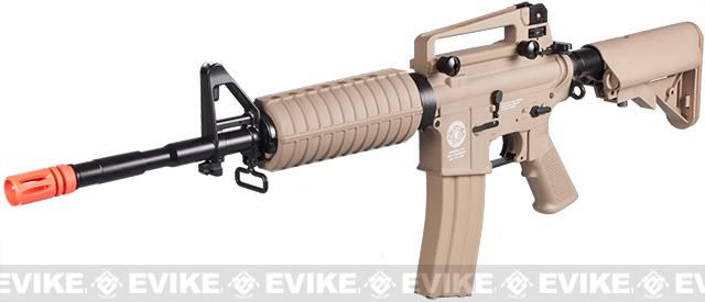 Evike.com Special Edition G&G Crane Stock CM16 Carbine Airsoft AEG Rifle (Package: Tan / Add 9.6 Butterfly Battery + Smart Charger)