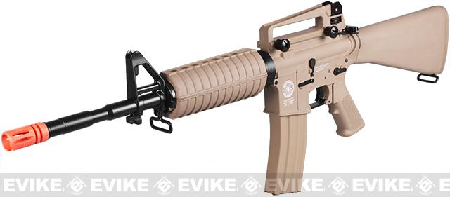 z Evike.com Special Edition G&G Full Stock CM16 Carbine Airsoft AEG Rifle - (Tan)