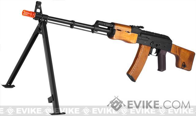 G&P Custom RPK AEG Rifle with Steel Bipod and Real Wood Furniture (Package: Add Battery + Charger)