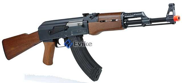 Bone Yard - Full Size AK47 Airsoft AEG Rifle w/ Metal AK Gearbox (Store Display, Non-Working Or Refurbished Models)