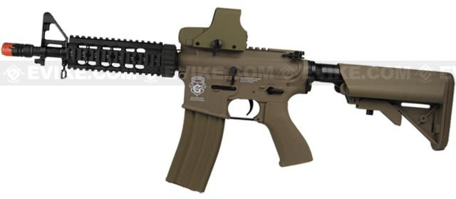Evike Custom Class I G&G Blowback M4 CQBR Combat Machine Airsoft AEG - Tan (Package: Gun Only)
