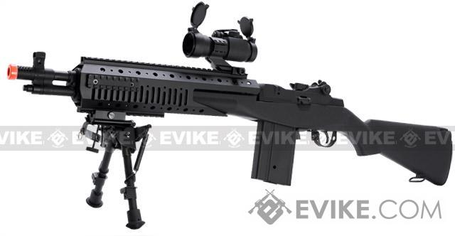 Evike.com Class I Custom Socom 16 Devil Full Size Airsoft AEG Rifle - (Package: Add Battery + Charger)
