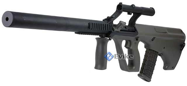 Matrix Custom AUG Phantom Sniper Rifle Airsoft AEG Package - Military Carrying Handle w/ Scope