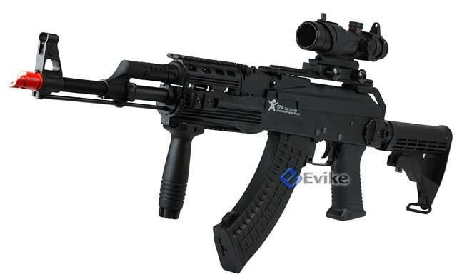 Echo1 AK47 Contractors Personal Weapon AK74 (C.P.W) Full Size Airsoft AEG Electric Rifle - (Package: Add 11.1v 1250mAh LiPo Battery + Smart Charger)