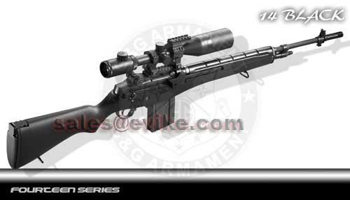 G&G M14 Full Size Airsoft AEG Rifle - Black (Package: Black / Rifle Only)