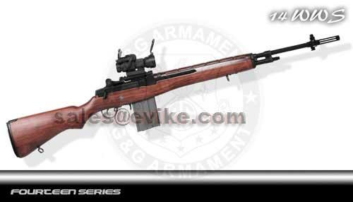 G&G M14 Full Metal / Full Size Airsoft AEG Rifle with Real Wood Stock - (Package: Rifle)