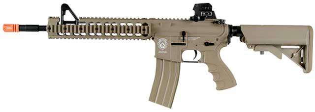 G&G GR15 Raider-XL DST Electric Blow Back Airsoft AEG Rifle (Package: Tan / Add 9.6 Butterfly Battery + Smart Charger)