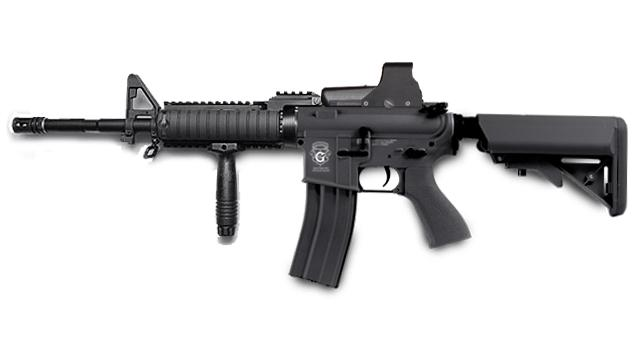 Evike Custom G&G Limited Edition Full Length Carbine RASII Combat Machine Airsoft AEG (Package: Black / Gun Only)