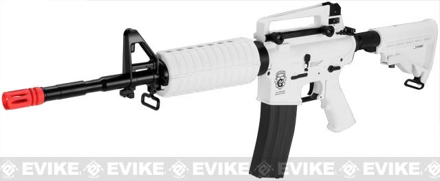 G&G Blowback GR16 Limited Edition Chione Combat Machine Airsoft AEG Rifle - White (Package: Add 9.6 Butterfly Battery + Smart Charger)