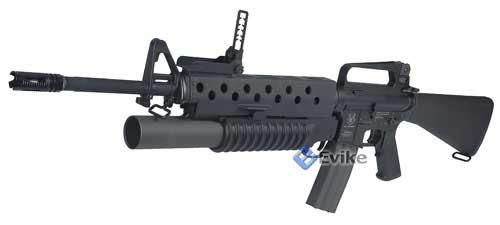 Evike.com Custom Full Metal G&G Full Metal M16 VN Grenadier with M203.