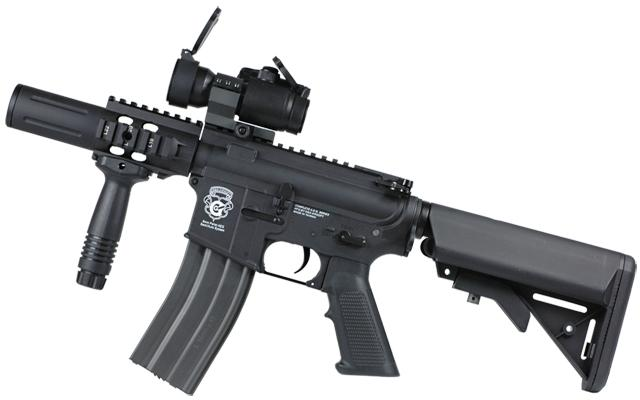 G&G Limited Edition Blowback Fighting Cat Combat Machine Airsoft AEG Rifle (Color: Black)